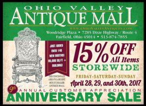Anniversary Sale April 28-30, 2017