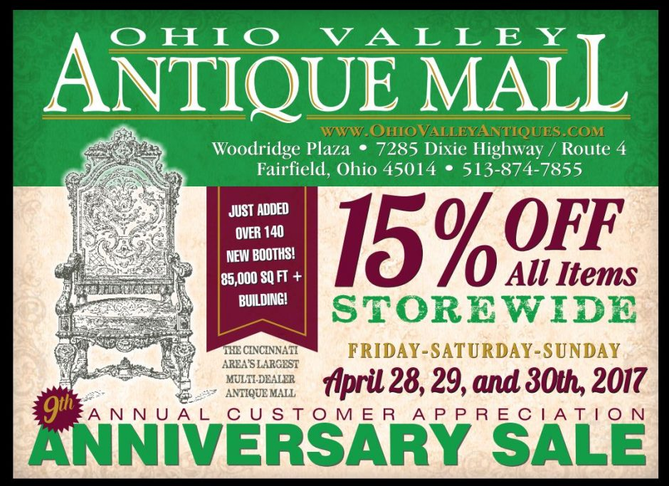 Anniversary Sale April 28-30, 2017